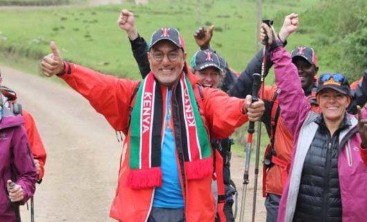 Najib Balala Climbs Mt Kenya To Promote Kenya's Adventure Tourism