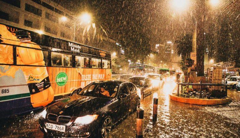Nairobi rainy night
